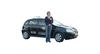 Helen Tomlinson's driving school car